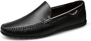 Calzado de trabajo para hombre Color : Negro, tamaño : 39 EU Zapatos de uniforme GBY Zapatos de Cuero de PU de los Hombres Formal Negocio Oxfords Bloque talón Suela Blanda Zapatillas de conducción