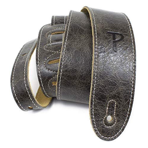 Perri's Leathers Deluxe Soft Italian Leather Guitar Strap, Super Soft Suede Backing, 2' inches Wide,...