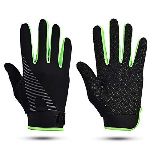 Unisex Fahrradhandschuhe Sport Winter Anti-Rutsch Fahrradhandschuh Fahrrad Winddicht Touchscreen Handschuhe 3 Styles Handschuh Für Mtb, Grün, L
