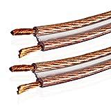 Van Damme 2 x 4.00 mm Audio Cable de altavoz de interconexión doble (Definición Total Hi-Fi Direccional) / 4M
