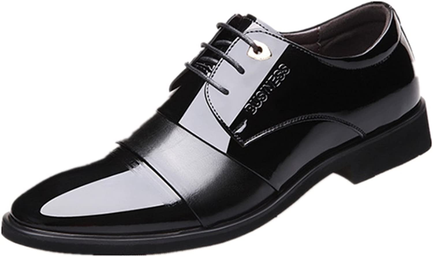 Punk family Men's Business British Dress Tip Leather shoes