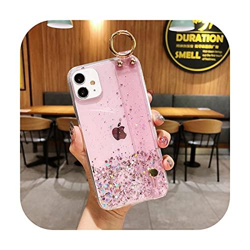 phone cover Bling Glitter - Funda para iPhone 12 11 Pro Max Xr Xs Max X 7 8 6 6Splus 12 Mini suave epoxi transparente cubierta trasera -T7-para iPhone 8 Plus