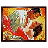Wee Blue Coo Movie Film Painting Gone with Wind Clark Gable
