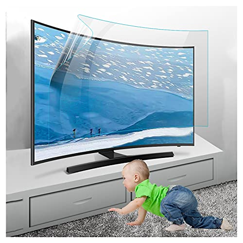 KELUNIS 32'-75' Anti Reflejante Protector De Pantalla De TV Tasa De Anti-Reflejo hasta 90% Película Protectora Anti Blue Ray para Family TV Eyes Fatigue Protection,55' (1221 * 689)