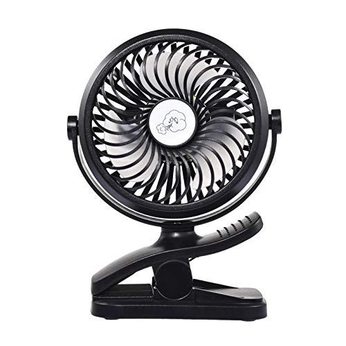 Mini ventilateur USB, ventilateur de bureau silencieux avec batterie rechargeable 2500mAh, mini ventilateur LED portable avec 3 vitesses, 360 vitesses de rotation réglables pour poussettes
