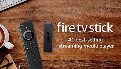 Fire TV Stick streaming media player with Alexa built in, includes Alexa Voice Remote, HD, easy set-up, released 2019