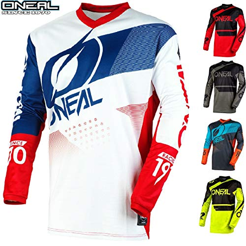 O'Neal Motorrad Hemden Element Motocross Sports Trikots Off-Road Quad Rennen Hemd Dirt Pit Bike Racewear Herren Damen MX Rennen Shirts (Schwarz/Gelb,XL/44)