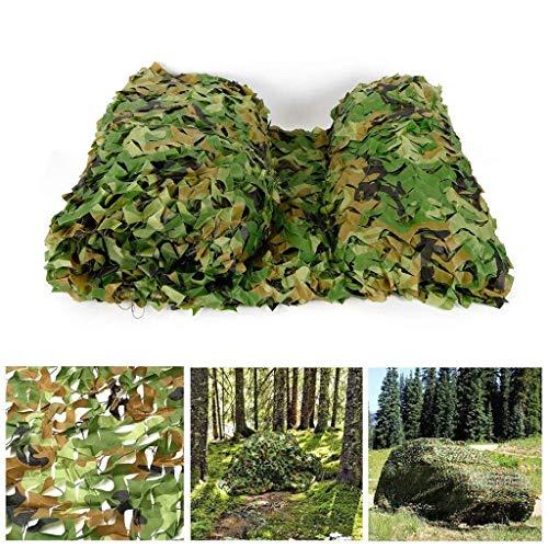 TndPcn Malla de Camuflaje Militar - Persianas Verdes de La Selva Ideal for Sombrilla Camping Disparos Caza Fiesta de Navidad Decoración Red Tela Oxford Impermeable (Size : 6×7m(20ft X 23ft))
