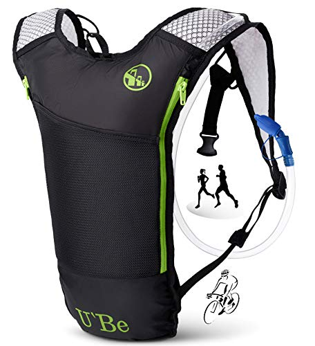 U`Be Hydration Pack Water Backpack - Running Hiking Cycling Mountain Biking Camelback...