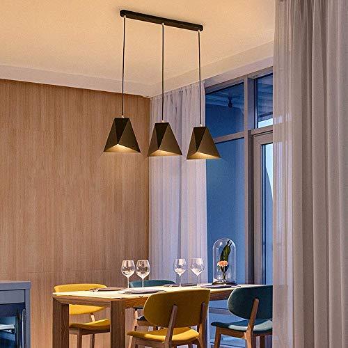 Mooie decoratieve lamp eettafel moderne hanglamp metaal zwart display 3 lampen E27 hanglamp in hoogte verstelbaar galerij keuken licht hanging cafe bar decor
