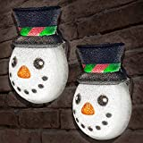 JOYIN 2 Pcs Christmas Cute Snowman Porch Light Cover for Outdoor Light Cover, Decorations, Christmas Parties, Gift Giving, and More!