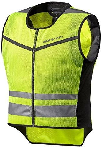 REV\'IT! ATHOS AIR 2 Motorrad Sicherheitsweste/Warnweste - neon gelb Größe M