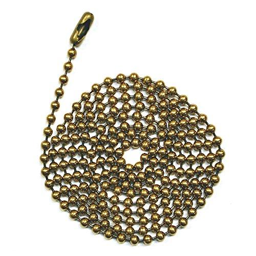 3Fuß Länge Ball Ketten, 6Größe, antik braun, mit passendem Stecker (3Stück)