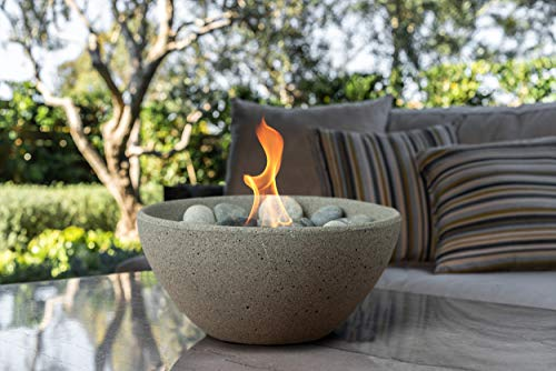 Terra Flame OD-TT-BSN-PTR-03 Basin Set in Pewter Table Top Fire Bowl