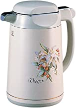 Tiger Vacuum Insulated Thermal Carafe Handy Jug Hot Water Coffee, Made in Japan (1.85L PRM-A190 1.23kg, Leaf Gray)
