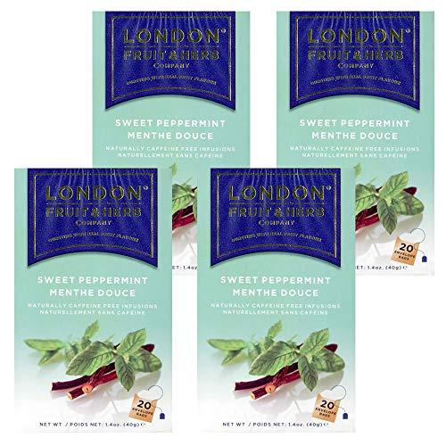 送料無料 ロンドンフルーツ&ハーブ スイートペパーミント (20パック入り) 4箱セット ハーブティ ティーバッグ イギリス