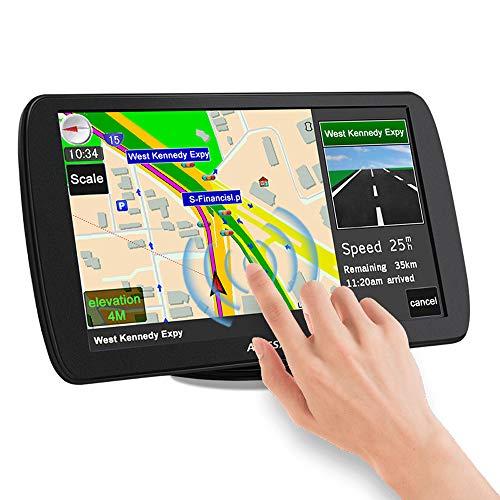AWESAFE Sat Nav, 9 inch Truck Satnav 2021 Europe UK Ireland Maps GPS Navigation for Car Truck Lorry HGV Caravan Motorhome, Sat Navs for Cars UK Postcodes, Speed Camera Alerts & POI Lane Assist