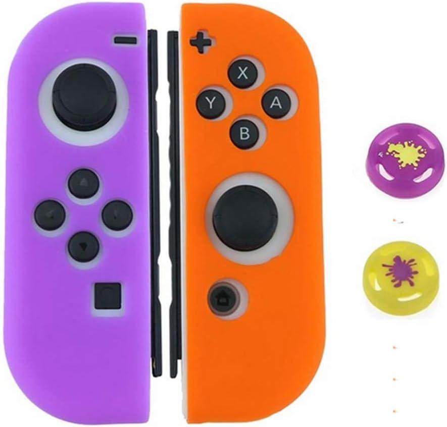 Amazon Com Funda Protectora De Silicona Suave Para Nintendo Switch Joy Con Morado Claro Computers Accessories