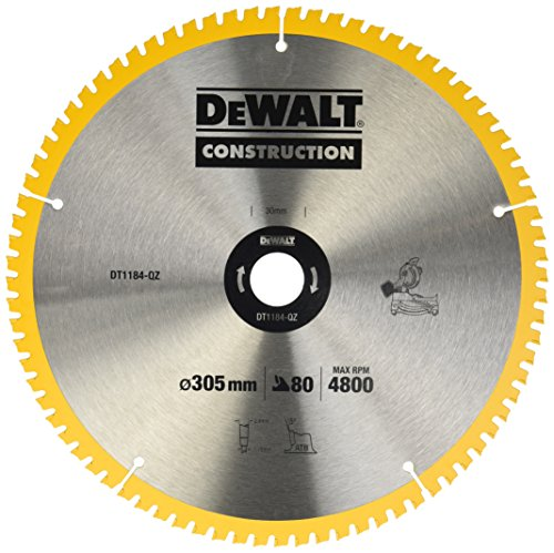 Dewalt DT1184-QZ Stationaer - Hoja de sierra circular (305 x 30 x 2,41, 80 WZ, 7°)
