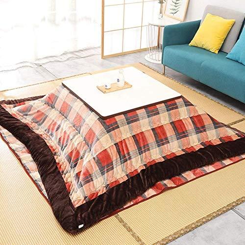 FMXYMC Kaffee Kotatsu Tisch Fußwärmer, japanischer Herd Tatami Bett warm Tischset, Laptop Tablett Tisch (4PCS Set Tisch/Decke/Pad/Heizung),A