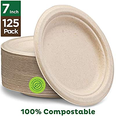 Stack Man Natural Disposable Bagasse, Eco-Friendly Made of Sugar Cane Fibers