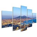 Bild Bilder auf Leinwand Neapel Neapel und der Vesuv im