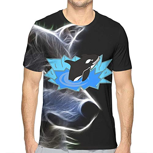 Men'S Short Sleeve T-Shirt Orca Killer Whale 3D Printed Tee Soft T-Shirts Men Classic Crew Neck Tee