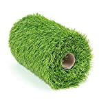 Deseados Artificial Grass Table Runners Synthetic Grass Tabletop Decoration Fake Grass Runner Carpet Roll Green Lawn Turf for Birthday Wedding Party, 0.4M X 1.5M