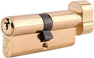 Yale KMT3030-PB - KM Superior 1 Star Euro Cylinder Lock - Thumb Turn - 30/30 (70mm) / 30:10:30 - Brass Finish - High Security - 2 Cylinders