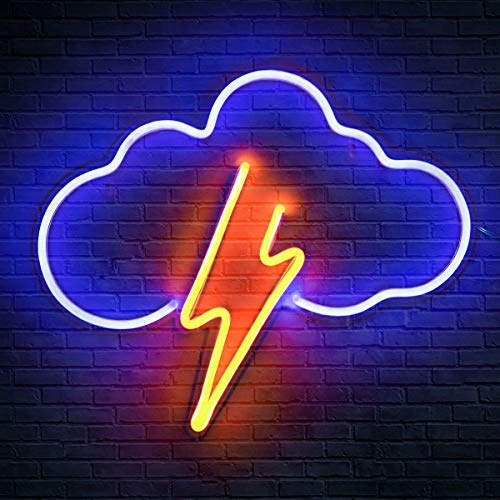 Koicaxy Neon Sign, Cloud Led Neon Light Wall Light Led Wall Decor, Battery or USB Powered Light Up...