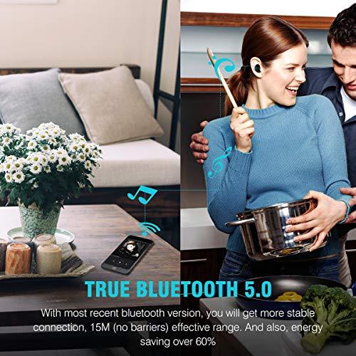 Écouteurs Bluetooth 5.0, Oreillette Bluetooth sans Fil Muzili Ultra-léger Casques d'Écoute Anti-Bruit Écouteurs Sport IP65 Écouteurs Étanche Stéréo avec Micro pour iPhone et Android