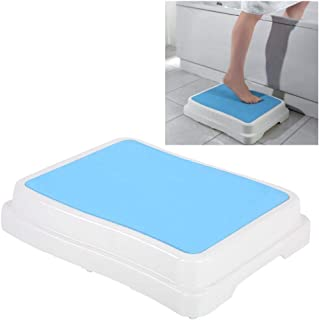 Step for Bathroom, Bathtubs Non-Slip Stool Stackable Bathing Aid, Large Plateform and Anti-Slip Feet, Resistant to 189Kg Height 10cm, Durable Step Stool for Bath, Indoor & Outdoor Use