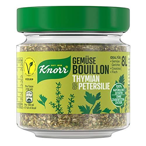 Knorr Gemüse Bouillon Thymian und Petersilie (100 % Natürliche + Vegane Zutaten im Glas, 96 g )