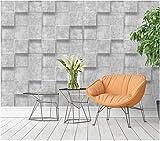 Vliestapete - Dickes 3D-Flockquadrat - 0.53x9,5m Tapete für Moderne Einfachheit Schlafzimmer Wohnzimmer Fernseh Hintergrund Wand-Kinder Zimmerausgangs Dekoration Hellgrau