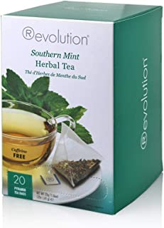 Revolution Tea -Southern Mint Herbal Tea | Premium Full Leaf Infuser Teabags - Headache Soother (20 Bags)