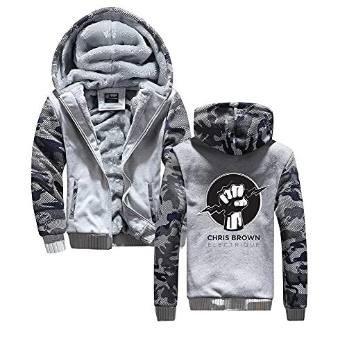 Chris Brown Pullover Transpirable Ocio Outwear Outwear Hombres Activo Casual Jersey Algodón Casual Hoodies Deportes Capacitación Abrigos Sudadera Unisex (Color : A07, Size : XXL)