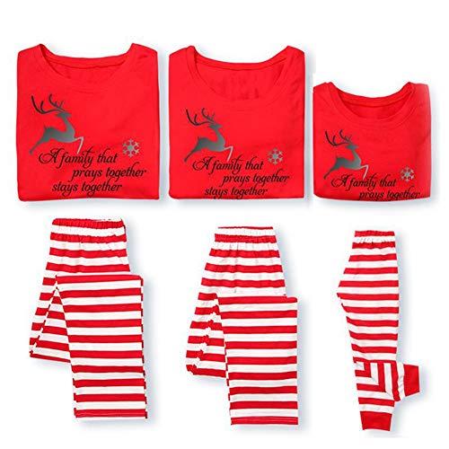 Gyratedream Pyjama Vrouwen Mannen Slaappakken Kids Nachtkleding Familie Bijpassende Pajama Sets Huiskleding Ouders Kind Kerst Letter Gedrukte Slaapkleding Rood