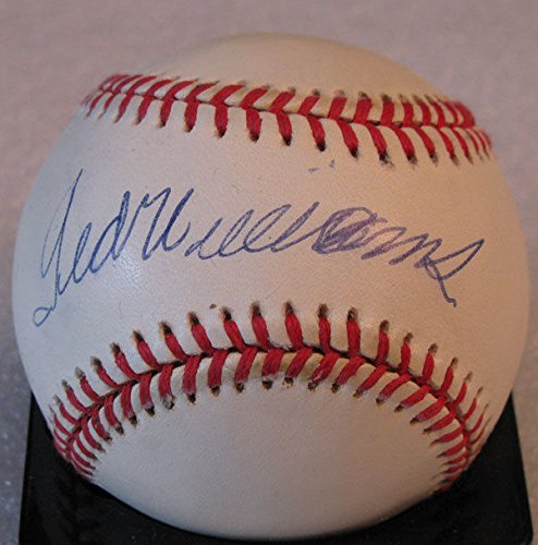 TED WILLIAMS SIGNED AUTO UPPER DECK BASEBALL RED SOX UDL-19894