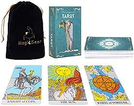MagicSeer Large Tarot Cards and Guidebook-Original Tarot Cards Deck,Tarot Card Set for Beginners and Expert Readers(Borderless Tarot)