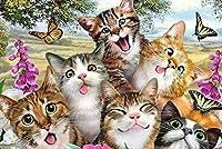 300/500/1000木製パズルかわいい猫アダルトチルドレン解凍教育玩具、大家族楽しいゲーム (Color : 6, Size : 500 PCS)