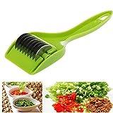 Cortador de verduras multifunción de cocina para cortar hierbas, cebollas verdes y verduras de cebolla multiusos de cocina de acero inoxidable para cortar hierbas, cebollas, ajos