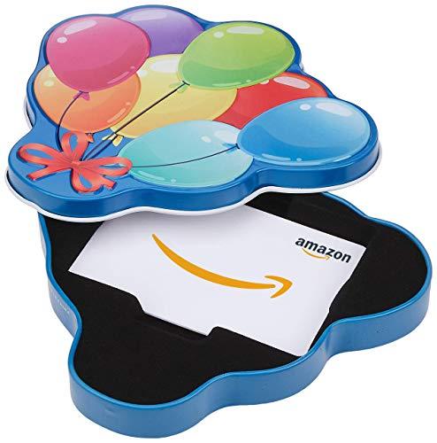 Amazon.com Gift Card in a Happy Birthday Balloons Tin