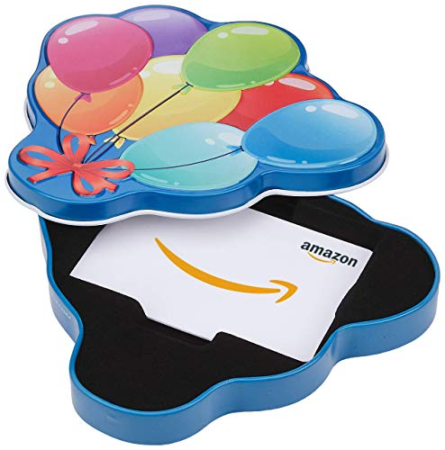 Amazon.com Gift Card in a Happy Birthday Balloons...
