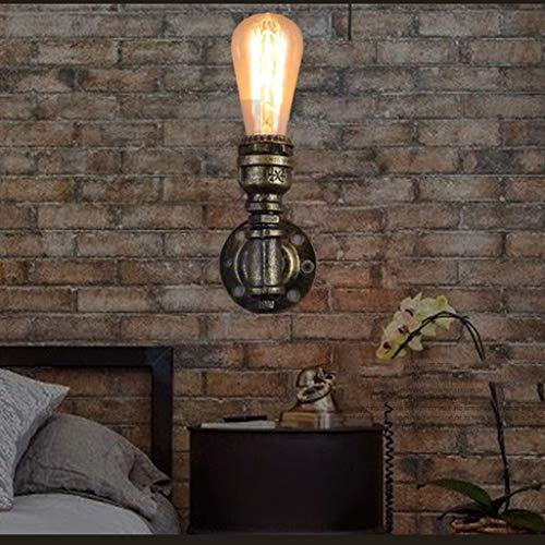 ZHYTX Ost-West Wandleuchte Amerikanischen Industrie Licht Outdoor Bar Kaffee Bar Korridor Licht Vintage Eisen Wandleuchte Einfache Stecker Rohr