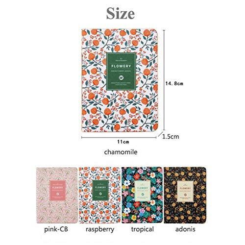 'Flowery Planner' Faux Leather Cute Beautiful Weekly Planner...