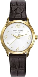 Montgallet Gold Women Brown Leather watch-PC108162F02