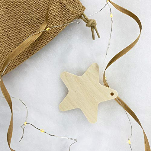 moblì Christmas Decorations in Natural Wood   Ornaments for a Unique Christmas Tree   Perfect for Family Activities   Designed to Be Painted and Decorated by Children   Made in Italy (4)