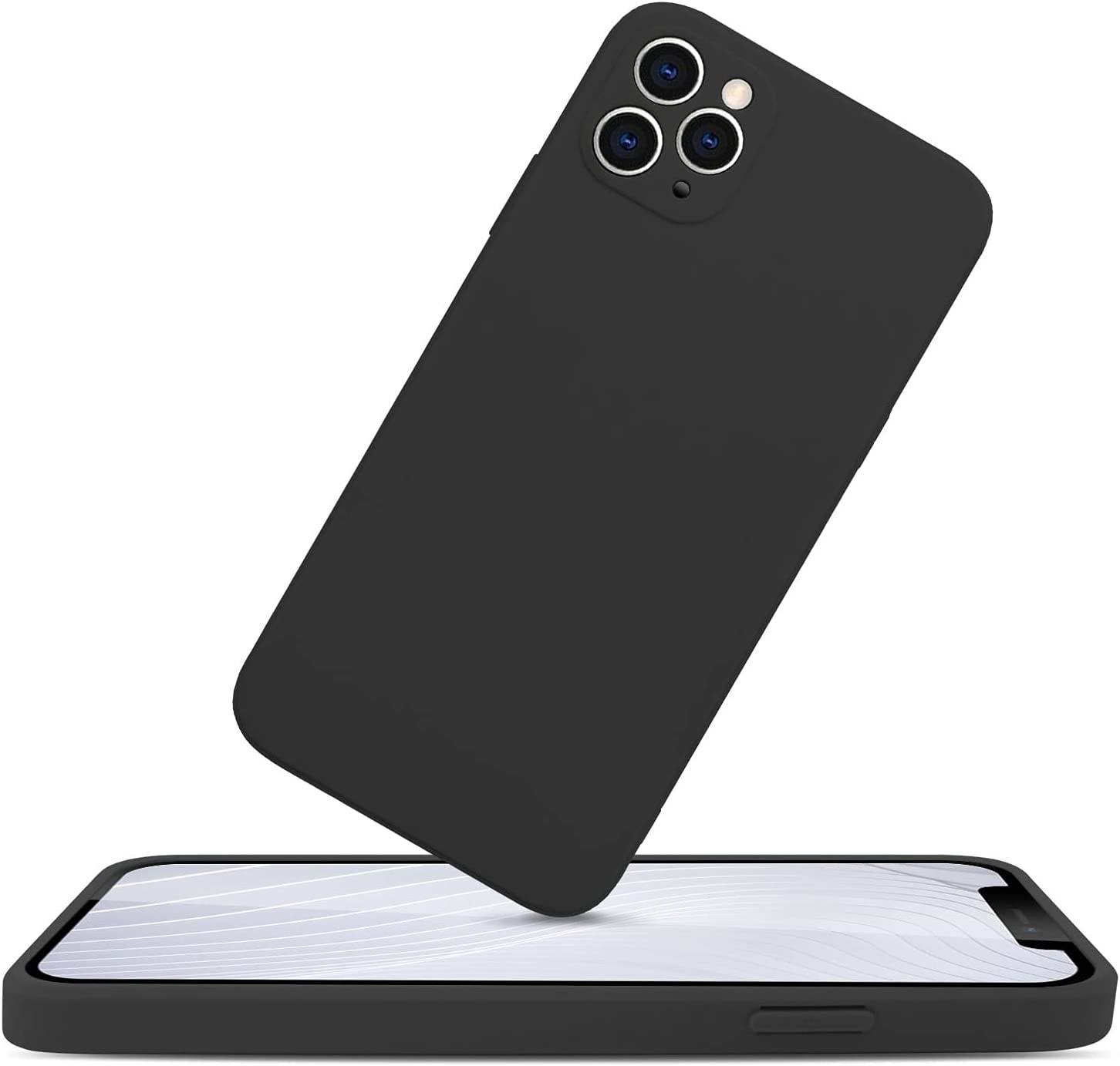PIGLULOO iPhone 11 Pro Max Mobile Phone Case (Protective & Anti Scratch£for iPhone 11 Pro Max Phone Model Black