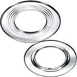 Boao 2 Pieces 11 Inch and 12 Inch Steam Ring, Stainless Steel Steaming Ring Adapter Fits 8 to 12...