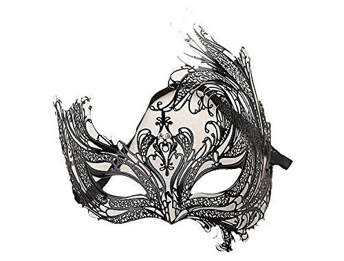 Venezianische Venetianische Maske #7 Metall metal sehr hochwertige Stabile Maske Maskerade Karneval Fasching Verkleidung Kostüm Halloween Party Maskenball Ball Shades of Grey Mr Grey Mitternacht